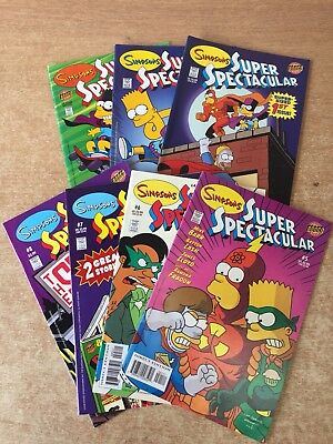 7x Simpsons Super Spectacular Issues 1-2,4-8 (2005) (Missing No 3) Bongo (Used)