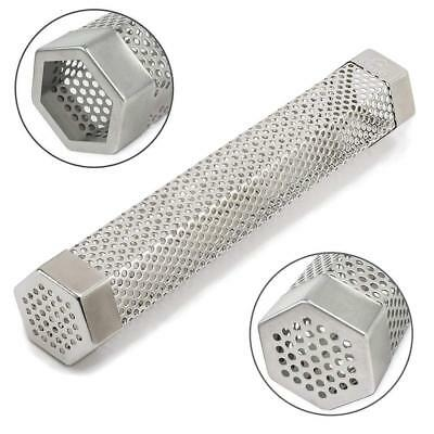 "Pellet Hexagon Smoker Tube 12"" Smoke Grill or Smoker for Hot Smoking Clips Wood"