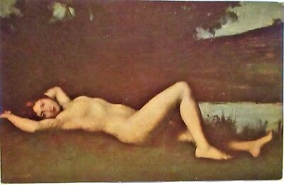 1920s RISQUE POSTCARD NAJADE - NUDE WOMAN RECLINING