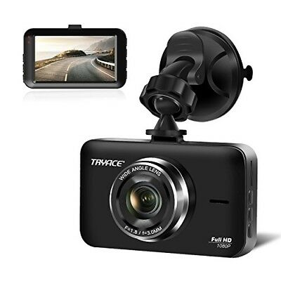 "Dash Cam, 3"" LCD FHD 1080P Wide Angle Dashboard Camera Recorder with G-Se"