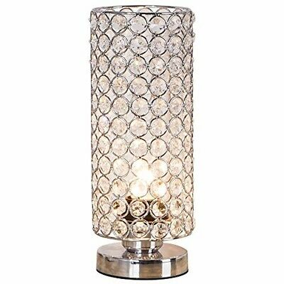 ZEEFO Crystal Table Lamp, Nightstand Decorative Room Desk Lamp, Night Light Lamp