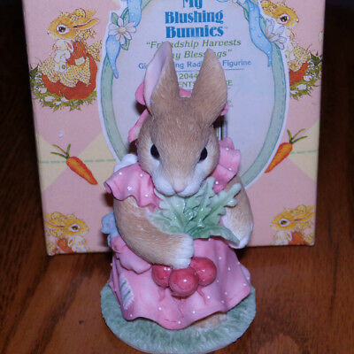 Enesco Blushing Bunnies Friendship Harvests Many Blessings