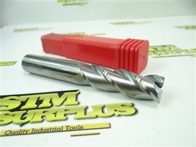 """New! Accupro Usa Solid Carbide 3 Fl End Mill 3/4"""" X 3/4"""" X 2-1/4"""" X 5"""" #09653940"""