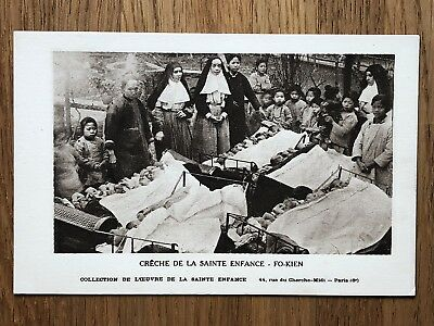 China Old Postcard Fukien Manger Of The Saint Children Fo Kien !!