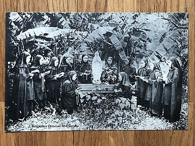 China Old Postcard Mission Religious Chinese People Of Canton !!