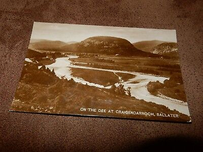 1920s Real Photographic Postcard - on the Dee at Craigendarroch - Ballater
