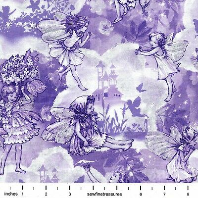 Artworks Digital IV NATURE ANGEL FLORAL SCENIC 25819-X Fabric By the FQ 1//4 YD