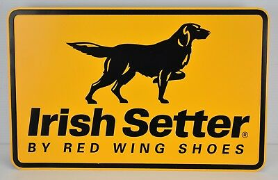 Irish Setter By Red Wing Shoes Metal Advertising Display Sign