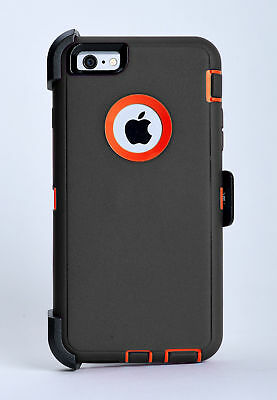 iPhone 6 iPhone 6s Case w/Holster Belt Clip fits Otterbox Defender Gray / Orange