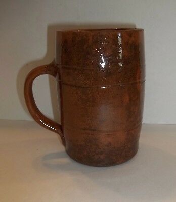 RARE Antique Pennsylvania Redware Mug Red Ware OLD! Handled Cup
