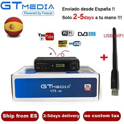 DVB-S2 GTmedia V7S Digital Satellite Receiver FTA 1080P HD TV Decoder+USB WIFI