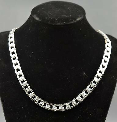 China Ancient Collectable Handwork Old Miao Silver Carve Annulus Noble Necklace