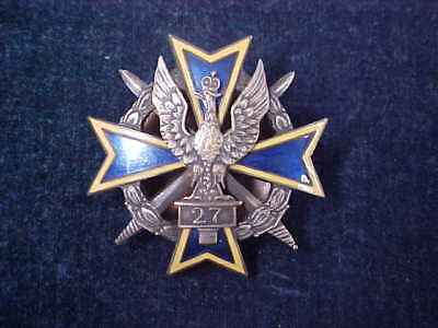 Vintage Polish / Poland Badge 27th Infantry Regiment