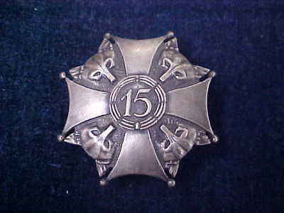 Vintage Polish / Poland Badge 15th Infantry Regiment - Wilkow - Wolves