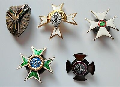 5 Polish Badges For Mounted Rifle Regiments