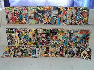 Action 351-400 SET Solid! Superman, Supergirl 1967-1971 DC Comics (s 10464)