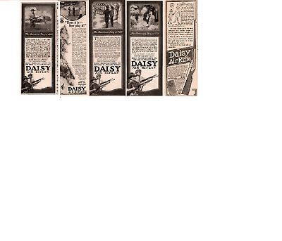 """Ad Lot Of 6 1917-20   Daisy Air Rifles Ads """" American Boy Of"""" Series"""