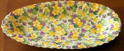 """James Kent Cucumber Tray in Primula Pattern 13"""" long 6.5"""" wide Great Condition"""