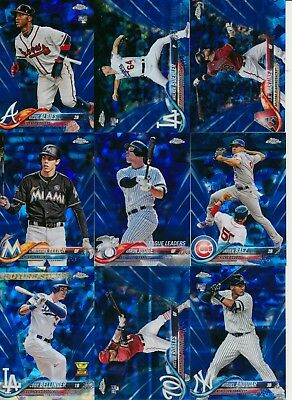 2018 Topps Chrome Sapphire - BASE CARDS - LIMITED ONLINE EXCLUSIVE - U Pick
