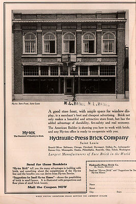 1917 A  Ad Photo Hytex Brick Front Mississippi Valley Motor Co Oakland 6