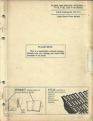 John Deere F110,f120 And F130 Series Moldboard Integral Plow Parts Catalog