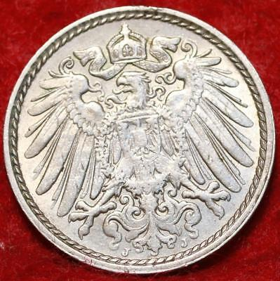 Uncirculated 1911-J Germany 5 Pfennig Foreign Coin