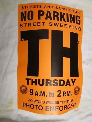Chicago Street Sign Street Cleaning No Parking Thursday Paper with Grommets