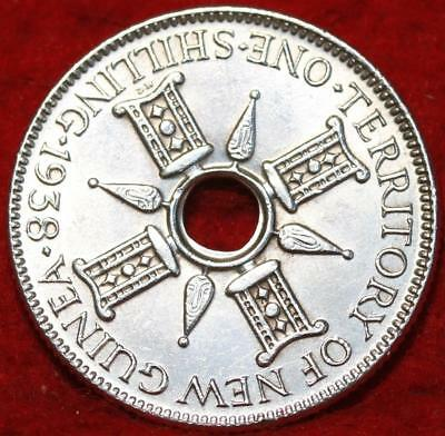 Uncirculated 1938 New Guinea One Shilling Silver Foreign Coin