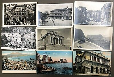 # 0246T    Naples,  Italy     Postcard Lot,   9   Dif.   Cards
