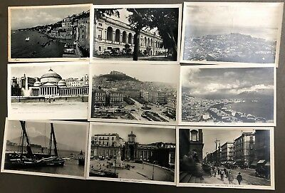 # 0247T    Naples,  Italy     Postcard Lot,   9   Dif.   Cards
