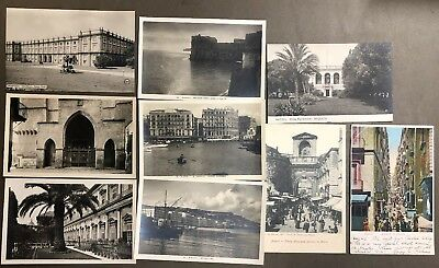 # 0248T    Naples,  Italy     Postcard Lot,   9   Dif.   Cards