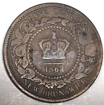 # 7279C    New Brunswick, Canada  Coin,     Large Cent   1864