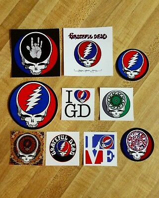10 Steal Your Face Stickers. Grateful Dead. Dead And Company.