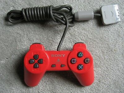 Playstation 1 Sony  Ps1 - Red Controller -  Scph 1080 Original