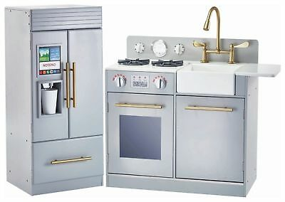 Teamson Kids Urban Adventure Play Kitchen Set - Grey.