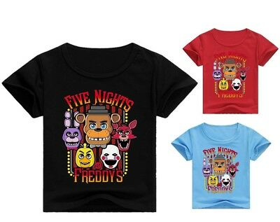 Five Nights at Freddy's Kid's Unisex T-Shirt Size 3-12 Boys Girls AU Shop