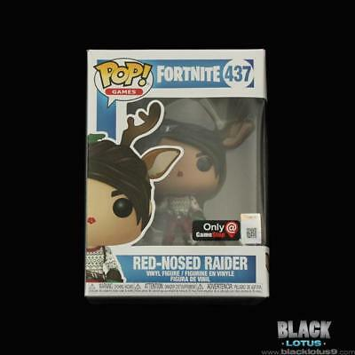 Funko Pop! Red-Nosed Raider Red Nosed Fortnite Epic Gamestop IN STOCK 437