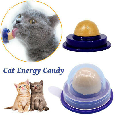 Healthy Cat Snacks Catnip Sugar Candy Licking Solid Nutrition Energy Ball 1pc