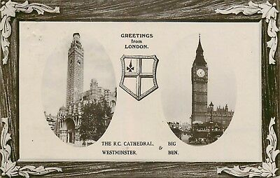 ANGLETERRE GREETINGS FROM LONDON WESTMINSTER & BIG BEN top 55225