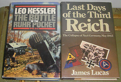 Lot of 2 World War II hardbacks Third Reich Battle Ruhr Pocket Leo Kessler