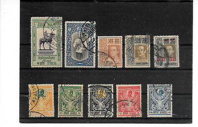 Thailand / Siam, lot of some old stamps, used    (E)