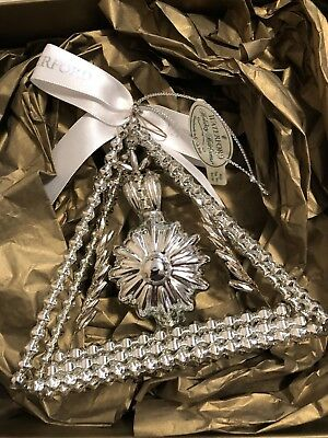 """WATERFORD HOLIDAY HEIRLOOMS LMT ED """"HOPE for ABUNDANCE ORNAMENT NEW"""