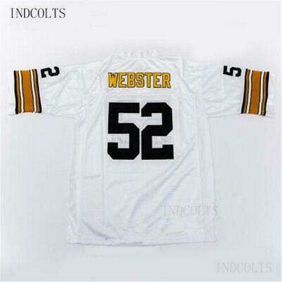 Throwback  52 Mike Webster Embroidered Retro star Football Jersey free  shipping c270329b9