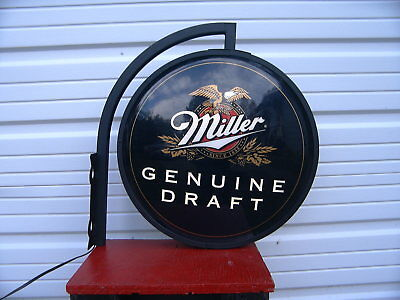 Miller Genuine Draft Two Sided Lighted Beer Sign