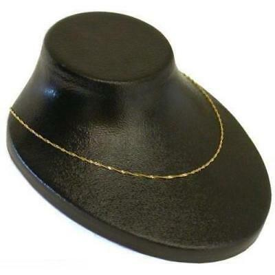Black Plastic Necklace Bust Display Chain Holder Showcase