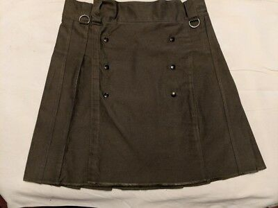 AmeriKilt mens kilt 34 Olive Green With Sporran (pouch) Worn Only twice