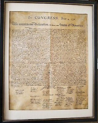 Historic Document DECLARATION OF INDEPENDENCE Genuine Parchment rolled new 37347