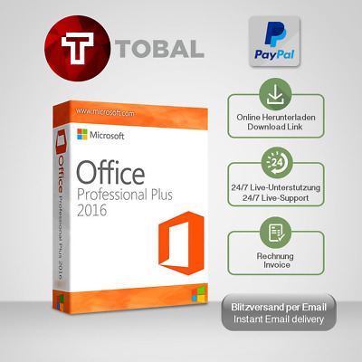 MS Office 2010,2013,2016,365,2019(Pro Plus,H&S,H&B) 1-5 PC produkt-key per email