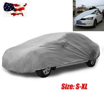 S-XL Size Full Car Cover All Weather UV Waterproof w/ Storage Bag For Toyota BMW