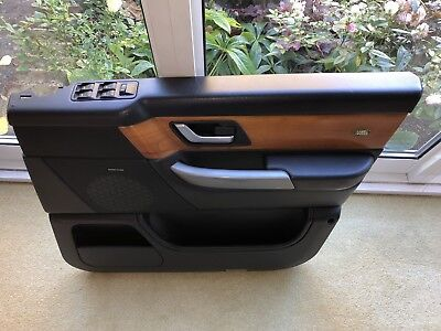 Range Rover Sport L320 07 Front Right Driver Side Black Leather Door Card